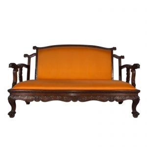 Sofa, Birmanie, Myanmar, Antique, Bois de teck sculpte, Mobilier, Oriental, 19 siecle, Colonial