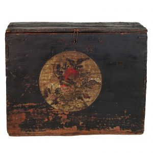 Blanket chest, Mongolia, antique, Ching dynasty,lacquered wood, 19 century