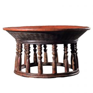 Daung-lan table, antique, Burma, Myanmar, Shan states, red lacquer on bamboo and wood, oriental furniture