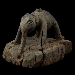 Elefant, antique, Burma, Myanmar, 19 century, teak wood, loom, sculpture, woodcarving, oriental art, decoration