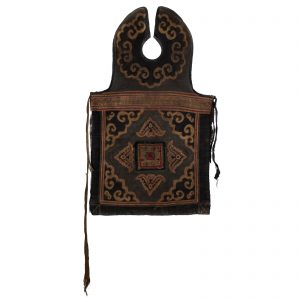 Bib, antique, China, Yunnan, tribal art, textile, embroidered cotton, Miao minority, tribe