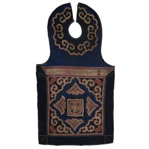 Antique, China, Yunnan, Miao minority, tribe, embroidered textile,cotton,baby bib