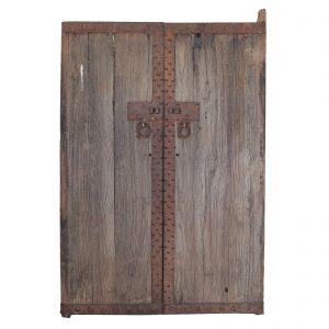 Pair of doors, antique, China, Shanxi, 19 century, elm wood