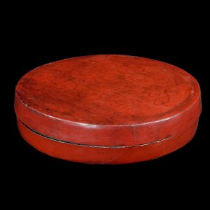 Snack box, antique, China, 19 century, gilted lacquer on bamboo, oriental art