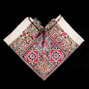 Broderie, antique, Chine, Yunnan, art tribal, textile, minorite Miao, tribu, broderie sur coton