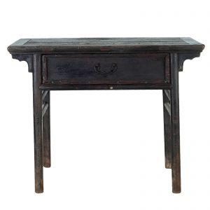 Console, antique, Chine, shanxi, 18/19 siecle, mobilier oriental, lacque noire