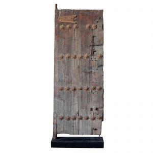Porte, antique, Chine, Shanxi, 19 siecle, traces de lacque sur du bois de pin