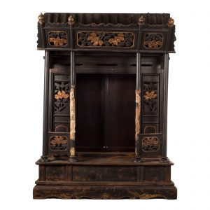 Shrine, spirit house, ancestor, antique, China, 19 century, oriental art, lacquered wood, miniature temple, architectural
