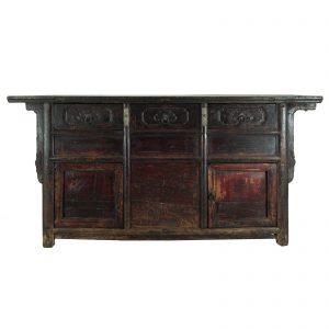 Buffet, antique, China, Shanxi, 19 siecle, lacque sur du bois de noyer, mobilier oriental