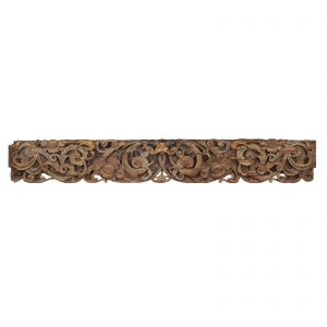 Carved beam, antique, China, shanxi province, woodcarving, architectural part, house, temple, polycromed wood, 19 century, wood sculpture