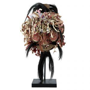 Masque Yao, antique, sud de la Chine, tribu Yao, art tribal et primitif , bois