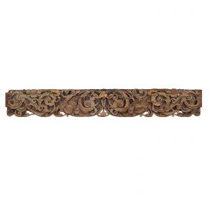 Poutre sculpte, antique, Chine, Shanxi, 19 siecle, bois polycrome, partie d une maison, sculpture