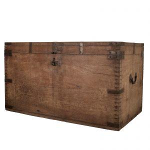 Chest, antique, Burma, Myanmar, teak wood, early 20 century, colonial, oriental furniture