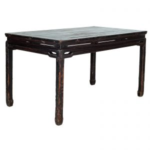 Painting table, antique, China, 19 century, lacquer on pine wood, oriental furniture