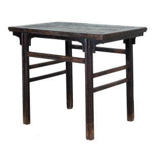 Chinese lacquered side table, antique, China, Shanxi province, elm wood, oriental furniture, 19 century, rectangular table