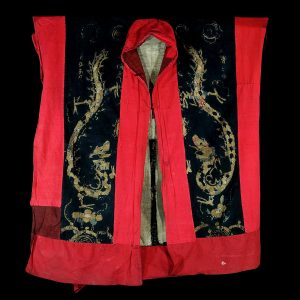 Robe de chaman Yao, tribu Yao, Cine, province du Yunnan, broderie en soie sur du coton, art primitif, textile, début 20 siècle