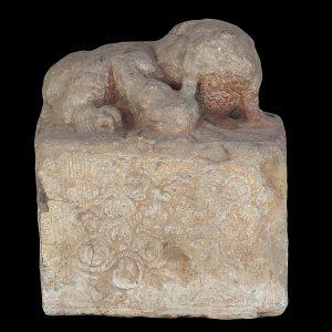 Lion, antique, Chine, calcaire, pierre, dynastie Ming , 17/18 siècle, art oriental