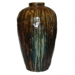 Jarre à vin, Chine, antique, 19 siècle, céramique, art oriental, décoration asiatique, Shanxi, poterie