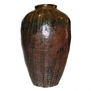 Jarre à vin, Chine, antique, 19 siècle, poterie, céramique, décoration orientale