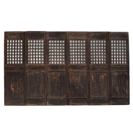 Set of 6 window panels